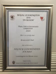 Picture of award certificate.