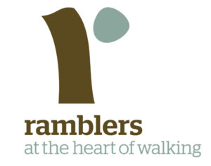 Ramblers Logo. At the heart of walking.