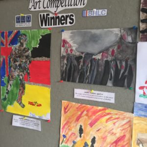 Winner's artwork on display